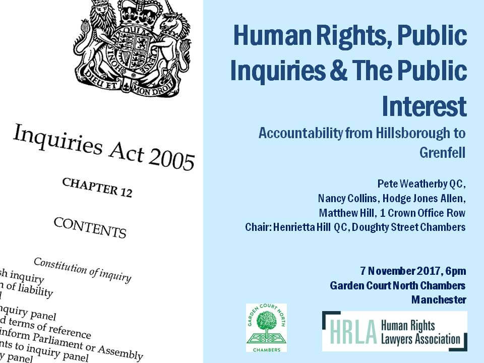 Human Rights, Public Inquiries and The Public Interest