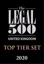 Legal 500 Top Tier Set 2020